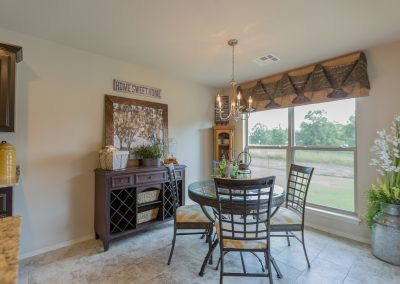 Dining Nook 1 Shaw New Homes Tulsa 3805 N. 33rd St. Birkdale In Silver Leaf Broken Arrow, Oklahoma