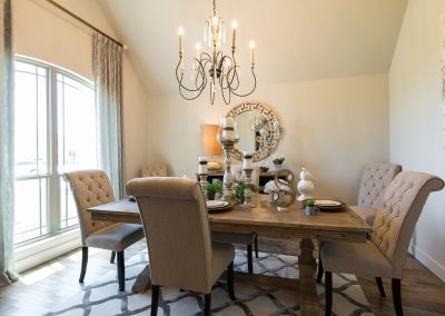 Dining Room 1 Monroe In The Estates At The River Shaw Tulsa New Home Builder