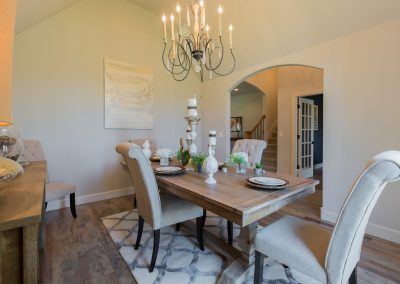 Dining Room 4 Monroe In The Estates At The River Shaw Tulsa New Home Builder