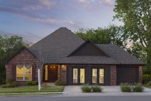 Exterior Twilight 2 Shaw New Homes Tulsa 13001 E. 43rd Street South Tulsa, Oklahoma