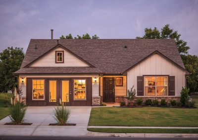 Exterior Twilight 3 Shaw New Homes Tulsa 3805 N. 33rd St. Birkdale In Silver Leaf Broken Arrow, Oklahoma