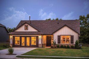 Exterior Twilight 4 Shaw New Homes Tulsa 3805 N. 33rd St. Birkdale In Silver Leaf Broken Arrow, Oklahoma