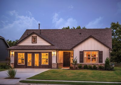 Exterior Twilight 4 Shaw New Homes Tulsa 3805 N. 33rd St. Birkdale In Silver Leaf Broken Arrow, Oklahoma