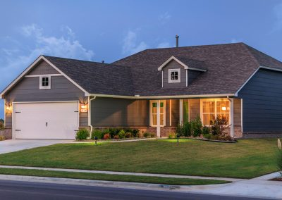 Exterior Twilight 5 Shaw New Homes Tulsa 3809 N. 33rd St. Cambridge In Silver Leaf Broken Arrow, Oklahoma