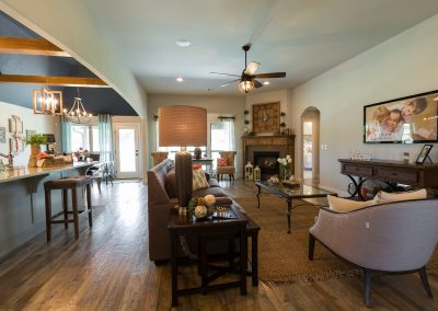 Great Room 1 Monroe In The Estates At The River Shaw Tulsa New Home Builder