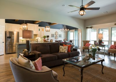 Great Room 4 Monroe In The Estates At The River Shaw Tulsa New Home Builder