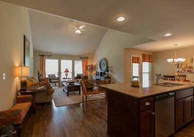 Great Room And Kitchen Shaw New Homes Tulsa 13001 E. 43rd Street South Tulsa, Oklahoma