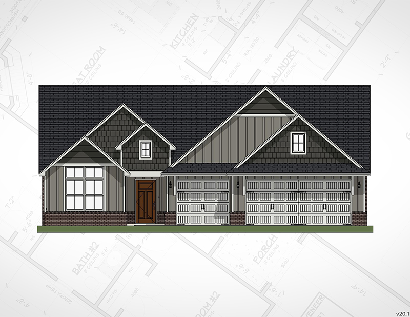 Broken Arrow New Homes | Inverness Elevation
