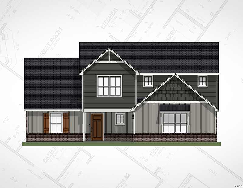 Broken Arrow New Homes | Magnolia Elevation