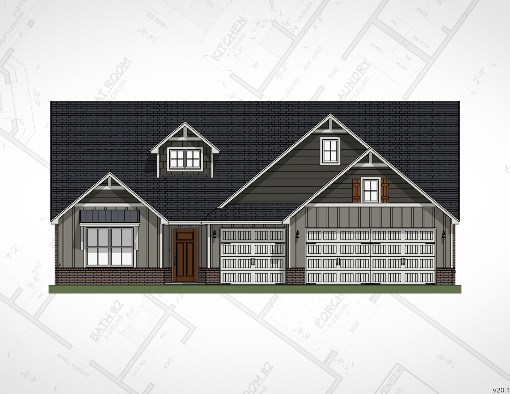 Broken Arrow New Homes | Peyton Elevation