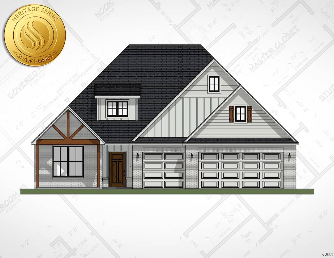 Shaw Homes | Piedmont Elevation