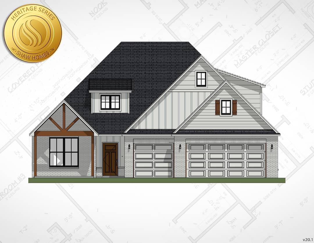 Shaw Homes | Piedmont P - Elevation B