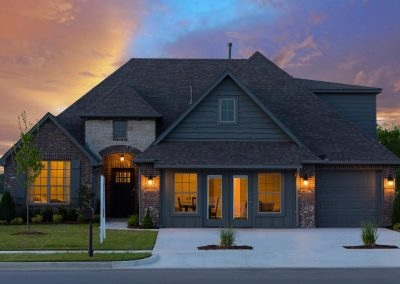 Tulsa Home Builders Addison749222900718450 Addison Twilight Front